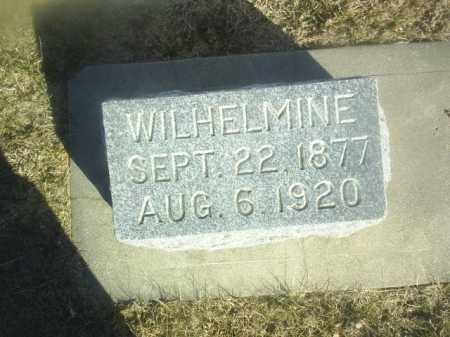 HIRSCH, WILHELMINE - Boone County, Nebraska | WILHELMINE HIRSCH - Nebraska Gravestone Photos