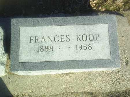 KOOP, FRANCES - Boone County, Nebraska | FRANCES KOOP - Nebraska Gravestone Photos
