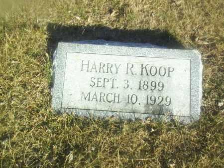 KOOP, HARRY - Boone County, Nebraska   HARRY KOOP - Nebraska Gravestone Photos