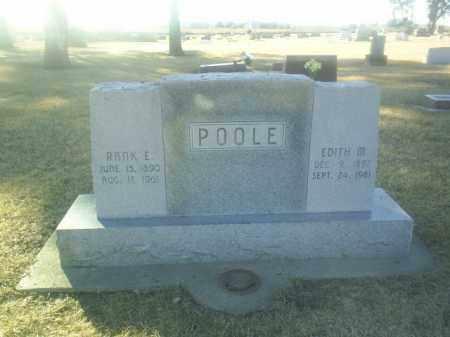 POOLE, EDITH - Boone County, Nebraska | EDITH POOLE - Nebraska Gravestone Photos