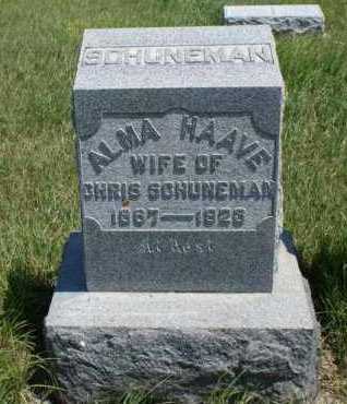 SCHUNEMAN, ALMA - Boone County, Nebraska | ALMA SCHUNEMAN - Nebraska Gravestone Photos