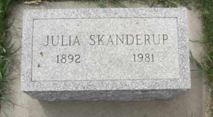 SKANDERUP, JULIA A. - Boone County, Nebraska   JULIA A. SKANDERUP - Nebraska Gravestone Photos