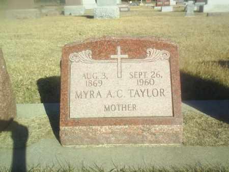 TAYLOR, MYRA - Boone County, Nebraska | MYRA TAYLOR - Nebraska Gravestone Photos