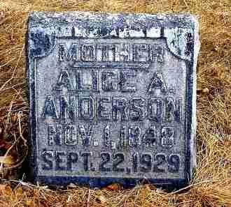 ANDERSON, ALICE A. - Box Butte County, Nebraska   ALICE A. ANDERSON - Nebraska Gravestone Photos