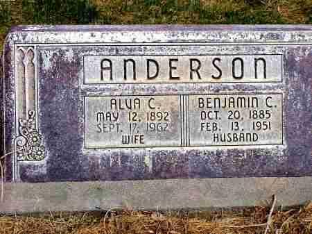 ANDERSON, ALVA C. - Box Butte County, Nebraska | ALVA C. ANDERSON - Nebraska Gravestone Photos