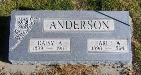 ANDERSON, EARLE W. - Box Butte County, Nebraska | EARLE W. ANDERSON - Nebraska Gravestone Photos