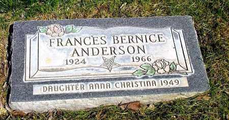 ANDERSON, FRANCES BERNICE - Box Butte County, Nebraska   FRANCES BERNICE ANDERSON - Nebraska Gravestone Photos