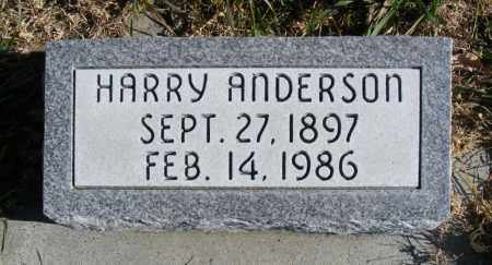 ANDERSON, HARRY - Box Butte County, Nebraska   HARRY ANDERSON - Nebraska Gravestone Photos