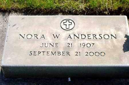 ANDERSON, NORA W. - Box Butte County, Nebraska   NORA W. ANDERSON - Nebraska Gravestone Photos