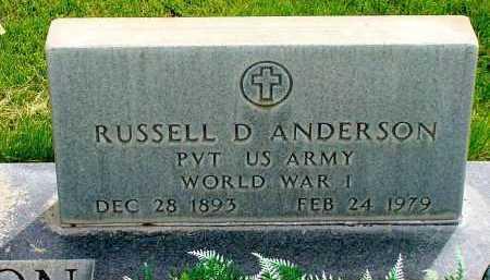 ANDERSON, RUSSELL D. - Box Butte County, Nebraska   RUSSELL D. ANDERSON - Nebraska Gravestone Photos