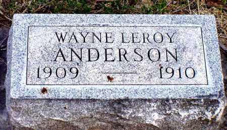 ANDERSON, WAYNE LEROY - Box Butte County, Nebraska   WAYNE LEROY ANDERSON - Nebraska Gravestone Photos