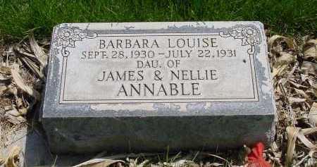 ANNABLE, BARBARA LOUISE - Box Butte County, Nebraska   BARBARA LOUISE ANNABLE - Nebraska Gravestone Photos