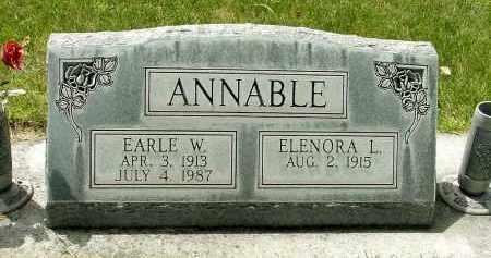 ANNABLE, ELENORA L. - Box Butte County, Nebraska | ELENORA L. ANNABLE - Nebraska Gravestone Photos