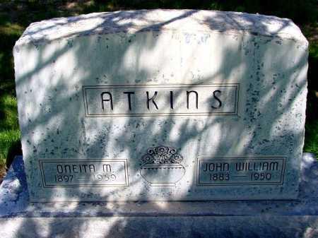 ATKINS, JOHN WILLIAM - Box Butte County, Nebraska | JOHN WILLIAM ATKINS - Nebraska Gravestone Photos