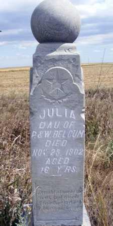 BELGUM, JULIA - Box Butte County, Nebraska | JULIA BELGUM - Nebraska Gravestone Photos