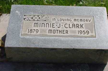 CLARK, MINNIE J. - Box Butte County, Nebraska | MINNIE J. CLARK - Nebraska Gravestone Photos