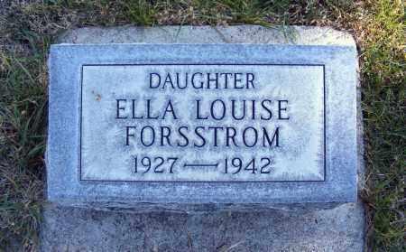 FORSSTROM, ELLA LOUISE - Box Butte County, Nebraska   ELLA LOUISE FORSSTROM - Nebraska Gravestone Photos