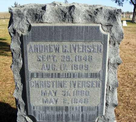 IVERSEN, CHRISTINE - Box Butte County, Nebraska | CHRISTINE IVERSEN - Nebraska Gravestone Photos