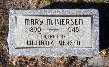IVERSEN, MARY M. - Box Butte County, Nebraska | MARY M. IVERSEN - Nebraska Gravestone Photos