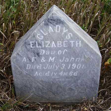 JAHNKE, GLADYS ELIZABETH - Box Butte County, Nebraska   GLADYS ELIZABETH JAHNKE - Nebraska Gravestone Photos