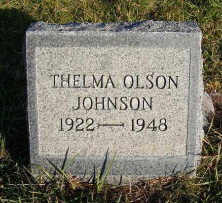 OLSON JOHNSON, THELMA - Box Butte County, Nebraska   THELMA OLSON JOHNSON - Nebraska Gravestone Photos