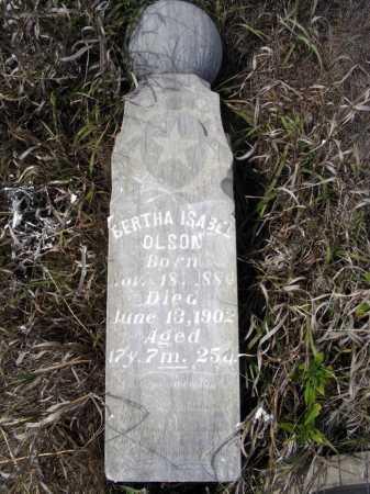 OLSON, BERTHA ISABEL - Box Butte County, Nebraska   BERTHA ISABEL OLSON - Nebraska Gravestone Photos