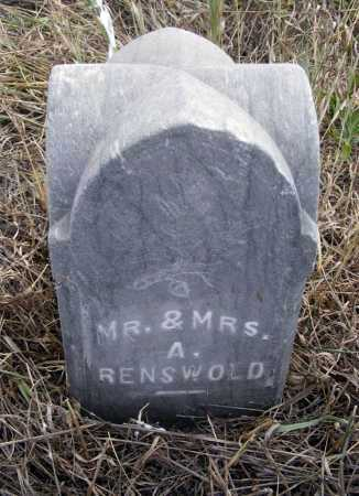RENSVOLD, MRS. A. - Box Butte County, Nebraska   MRS. A. RENSVOLD - Nebraska Gravestone Photos