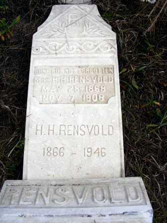 RENSVOLD, H.H. - Box Butte County, Nebraska | H.H. RENSVOLD - Nebraska Gravestone Photos