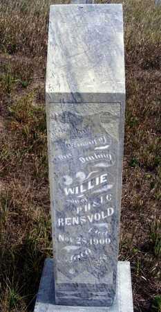 RENSVOLD, WILLIE - Box Butte County, Nebraska | WILLIE RENSVOLD - Nebraska Gravestone Photos