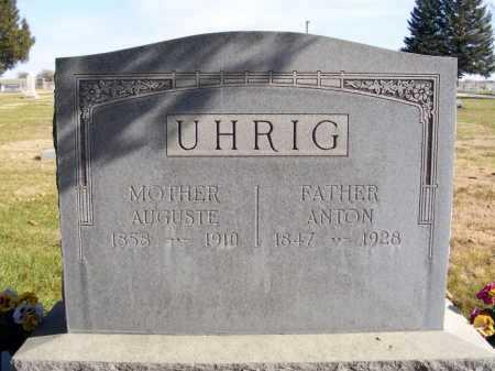UHRIG, AUGUSTE - Box Butte County, Nebraska | AUGUSTE UHRIG - Nebraska Gravestone Photos