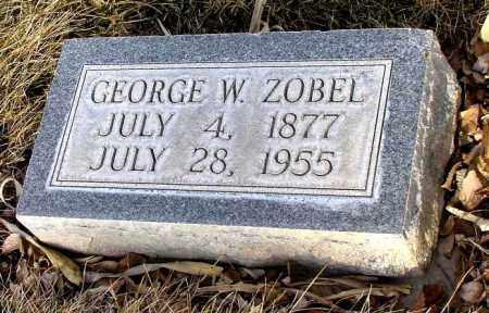 ZOBEL, GEORGE W. - Box Butte County, Nebraska   GEORGE W. ZOBEL - Nebraska Gravestone Photos
