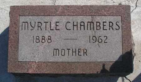 CHAMBERS, MYRTLE - Boyd County, Nebraska | MYRTLE CHAMBERS - Nebraska Gravestone Photos