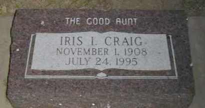 CRAIG, IRIS ISABEL - Boyd County, Nebraska | IRIS ISABEL CRAIG - Nebraska Gravestone Photos