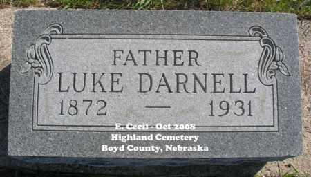 DARNELL, LUKE - Boyd County, Nebraska | LUKE DARNELL - Nebraska Gravestone Photos