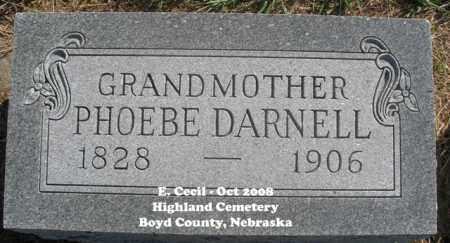 DARNELL, PHOEBE - Boyd County, Nebraska | PHOEBE DARNELL - Nebraska Gravestone Photos