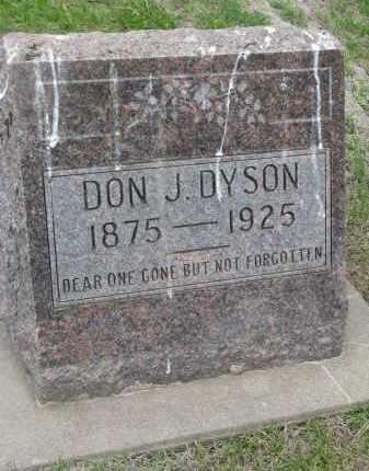 DYSON, DON J. - Boyd County, Nebraska | DON J. DYSON - Nebraska Gravestone Photos
