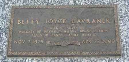 HAVRANEK, BETTY JOYCE - Boyd County, Nebraska | BETTY JOYCE HAVRANEK - Nebraska Gravestone Photos
