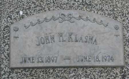 KLASNA, JOHN H. - Boyd County, Nebraska | JOHN H. KLASNA - Nebraska Gravestone Photos