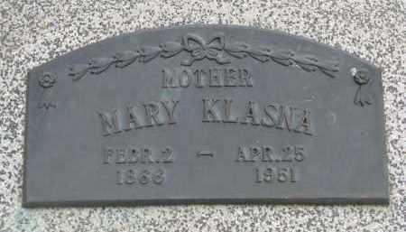 KLASNA, MARY - Boyd County, Nebraska | MARY KLASNA - Nebraska Gravestone Photos