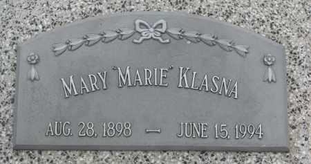 "KLASNA, MARY ""MARIE"" - Boyd County, Nebraska   MARY ""MARIE"" KLASNA - Nebraska Gravestone Photos"