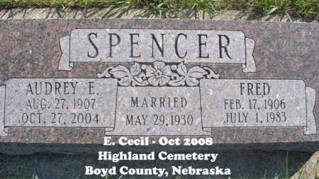 SPENCER, FRED - Boyd County, Nebraska   FRED SPENCER - Nebraska Gravestone Photos