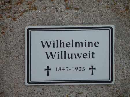 WILLUWEIT, WILHELMINE - Boyd County, Nebraska | WILHELMINE WILLUWEIT - Nebraska Gravestone Photos