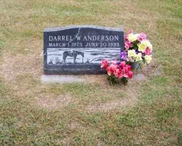 ANDERSON, DARREL W. - Brown County, Nebraska | DARREL W. ANDERSON - Nebraska Gravestone Photos