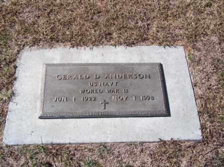 ANDERSON, GERALD D. - Brown County, Nebraska | GERALD D. ANDERSON - Nebraska Gravestone Photos