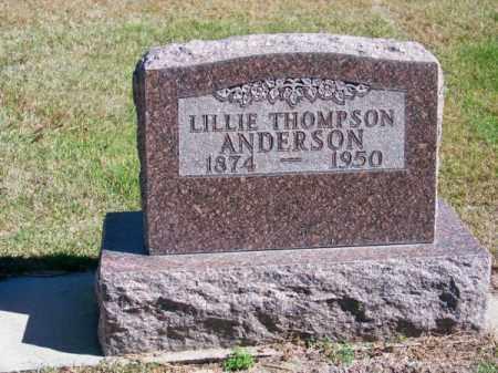 ANDERSON, LILLIE - Brown County, Nebraska | LILLIE ANDERSON - Nebraska Gravestone Photos