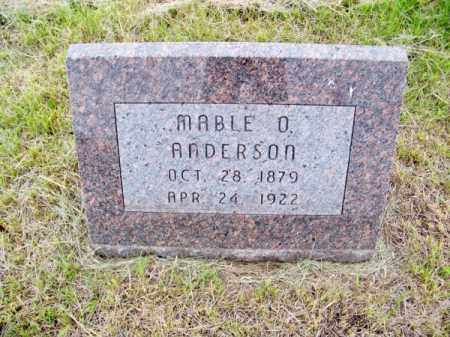 ANDERSON, MABLE O. - Brown County, Nebraska | MABLE O. ANDERSON - Nebraska Gravestone Photos