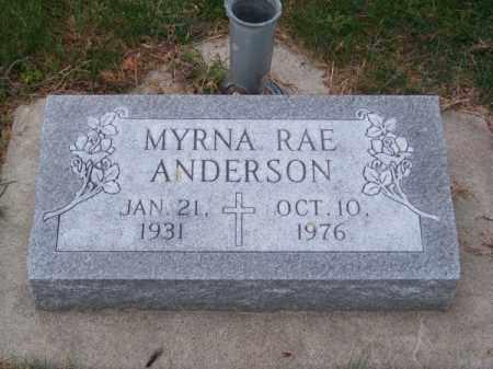ANDERSON, MYRNA RAE - Brown County, Nebraska | MYRNA RAE ANDERSON - Nebraska Gravestone Photos