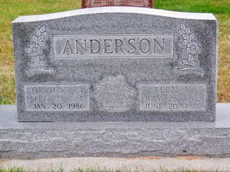ANDERSON, ORVILLE A. - Brown County, Nebraska | ORVILLE A. ANDERSON - Nebraska Gravestone Photos