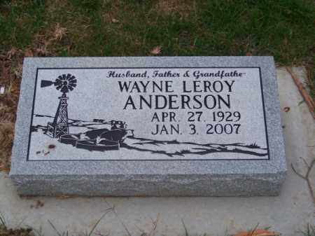 ANDERSON, WAYNE LEROY - Brown County, Nebraska   WAYNE LEROY ANDERSON - Nebraska Gravestone Photos