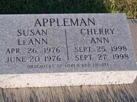 APPLEMAN, CHERRY ANN - Brown County, Nebraska   CHERRY ANN APPLEMAN - Nebraska Gravestone Photos
